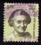 Stamps : Asia : India :  Indira G.