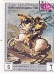 Stamps Yemen -  Hombres Famosos de la Historia-  NAPOLEON CRUZANDO LOS ALPES