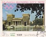 Stamps Yemen -  MUNICH OLYMPIC CITY 1972