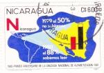 Sellos de America - Nicaragua -  1980-Primer Aniversario de la Cruzada Nacional de Alfabetización