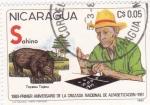 Stamps Nicaragua -  1980-Primer Aniversario de la Cruzada Nacional de Alfabetización