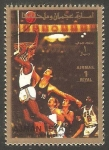 Stamps : Asia : United_Arab_Emirates :  Ajman - Baloncesto