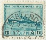 Sellos del Mundo : Europa : Bélgica : OOSTENDE - DOVER 1846 - 1946