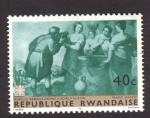 Stamps Africa - Rwanda -  rebeca da de beber a eliezer