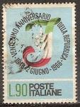 Sellos del Mundo : Europa : Italia : 20a Aniv de la República. Capital