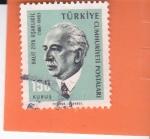 Stamps : Asia : Turkey :  Halit Ziya Usakligil (1887-1945)