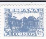 Sellos de Europa - España -  JUNTA DE DEFENSA NACIONAL - Patio de los Leones, Granada  (I)