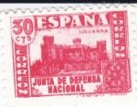 Stamps Europe - Spain -  JUNTA DE DEFENSA NACIONAL - Castillo de Javier -Navarra     (I)