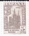 Stamps Spain -  JUNTA DE DEFENSA NACIONAL - Catedral de Burgos    (I)