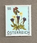 Stamps Austria -  Flores de los Alpes