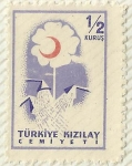 Stamps Turkey -  MEDIA LUNA ROJA TURQUIA