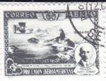 Stamps Spain -  Pro Unión Iberoamericana- Santos Dumont primer vuelo mecánico 1906    (I)