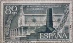 Sellos de Europa - España -  ermita y monolito conmemorativos xx aniv° esalt° caudillo franco jefatura estado 1956