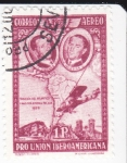 Sellos de Europa - España -  Pro Unión Iberoamericana- Travesía del Atlántico 1922    (I)