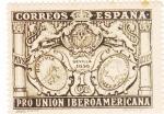 Stamps Spain -  Pro Unión Iberoamericana- Escudos de España, Bolivia y Paraguay   (I)