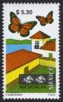 Stamps Mexico -  MEXICO - Reserva de la biosfera de la Mariposa Monarca.