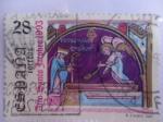 Stamps Spain -  Año Santo Jacobeo-Descubrimiento de la Tumba del Apóstol Santiago,por el Obispo Teodomiro.Ed:3253