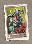 Stamps Hungary -  Máscaras de Carnaval, Mohacs