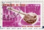Sellos de Africa - Chad -  27 Guitare