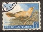Sellos del Mundo : Europa : San_Marino :  Oropéndola.