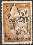 Sellos del Mundo : Europa : San_Marino : Montañismo. Abajo Roping.