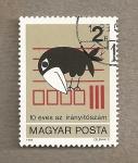 Stamps Hungary -  10 Aniv. códigos postales