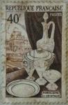 Sellos de Europa - Francia -  porcelaine et cristaux.republique francaise 1954
