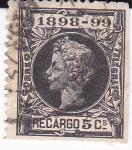 Stamps Spain -  ALFONSO XIII Sello de Impuesto de Guerra    (I)