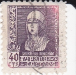 Stamps Spain -  ISABEL LA CATOLICA             (I)