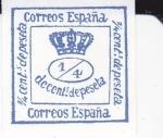 Sellos de Europa - España -  CORONA REAL REINADO DE AMADEO I          (I)