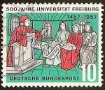 Sellos de Europa - Alemania -  500 JAHRE UNIVERSITAT FREIBURG - DEUTSCHE BUNDESPOST