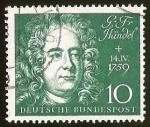 Stamps Germany -  G.F HANDEL - DEUTSCHE BUNDESPOST