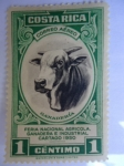 Stamps of the world : Costa Rica :  Feria Nacional Agrícola Ganadera  e Industrial Cartago 1950.