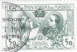 Stamps Spain -  EXPOSICIÓN DE INDUSTRIAS DE MADRID- Sellos recuerdo    (I)