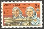 Stamps : Asia : Vietnam :  Día de la astronautica, astronautas