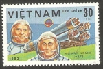 Stamps Vietnam -  Día de la astronautica, astronautas