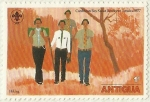 Stamps of the world : Antigua and Barbuda :  CHICOS SCOUTS CARIBEÑOS