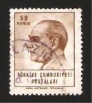 Sellos de Asia - Turquía -  1716 - Mustafa Kehal Ataturk, presidente