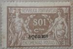 Sellos del Mundo : Europa : Portugal : republica portuguesa acores encomendas postais 1921