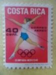 Sellos de Africa - Costa Rica -  Olimpiada Mexico 68.