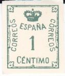 Sellos de Europa - España -  Corona y Cifra        (I)