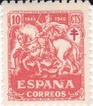 Stamps Spain -  Pro Tuberculosos- Cruz de Lorena    (I)