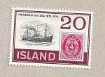 Sellos de Europa - Islandia -  Centenario 1er sello