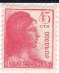 Stamps Spain -  Alegoría de la República     (I)