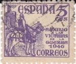 Sellos del Mundo : Europa : España : Auxilio a las Victimas de la Guerra  1946      (I)