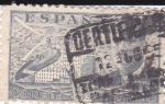 Stamps Spain -  Juan de la Cierva,  autogiro sobrevolando Madrid    (I)