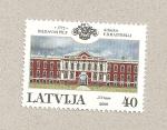 Stamps Latvia -  Palacio por F. B. Rastrelli