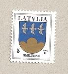 Sellos de Europa - Letonia -  Escudo de Smiltene