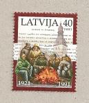 Stamps Latvia -  Reconocimiento internacional de Letonia