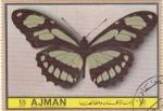 Sellos de Asia - Emiratos Árabes Unidos -  AJMAN -Mariposas